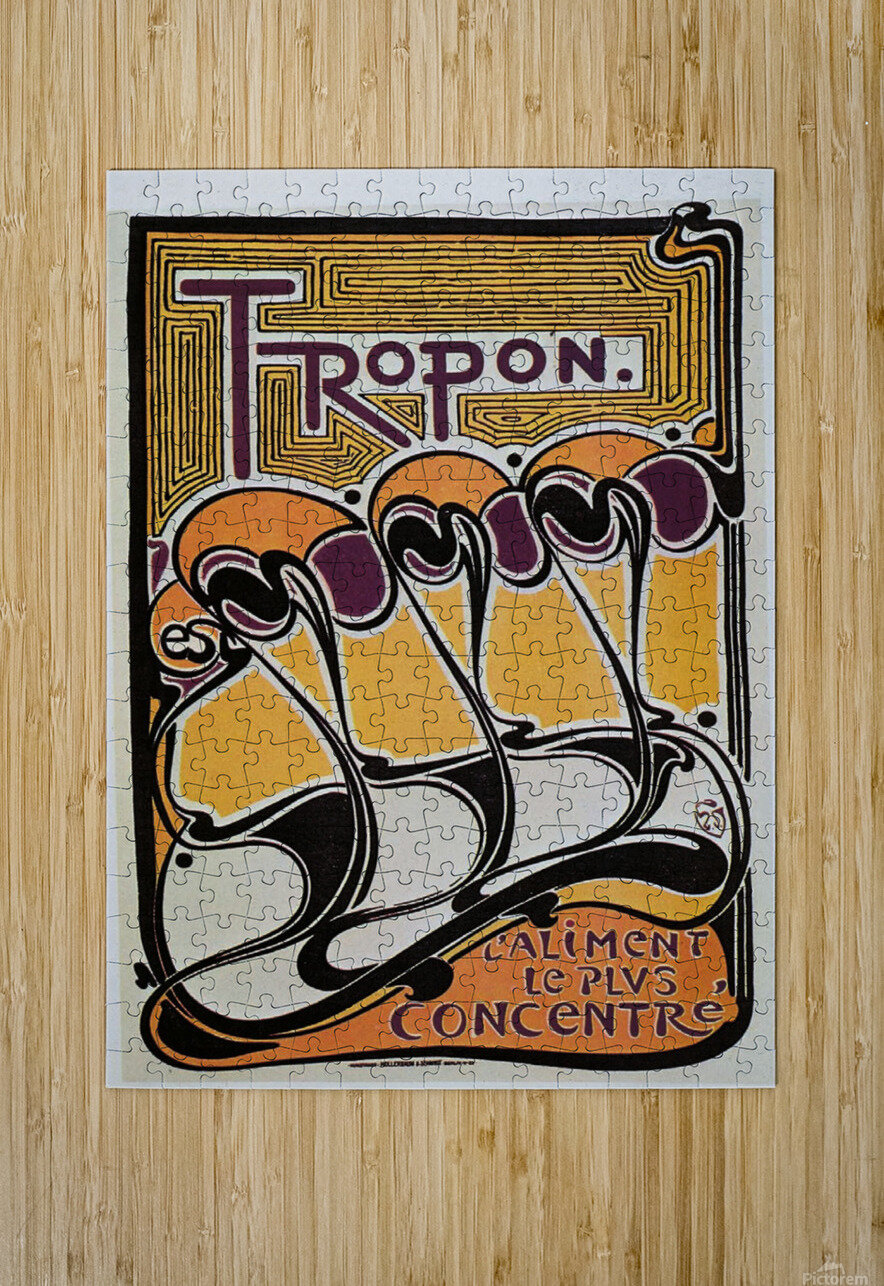 Vintage poster for Tropon food concentrate, 1899  HD Metal print with Floating Frame on Back