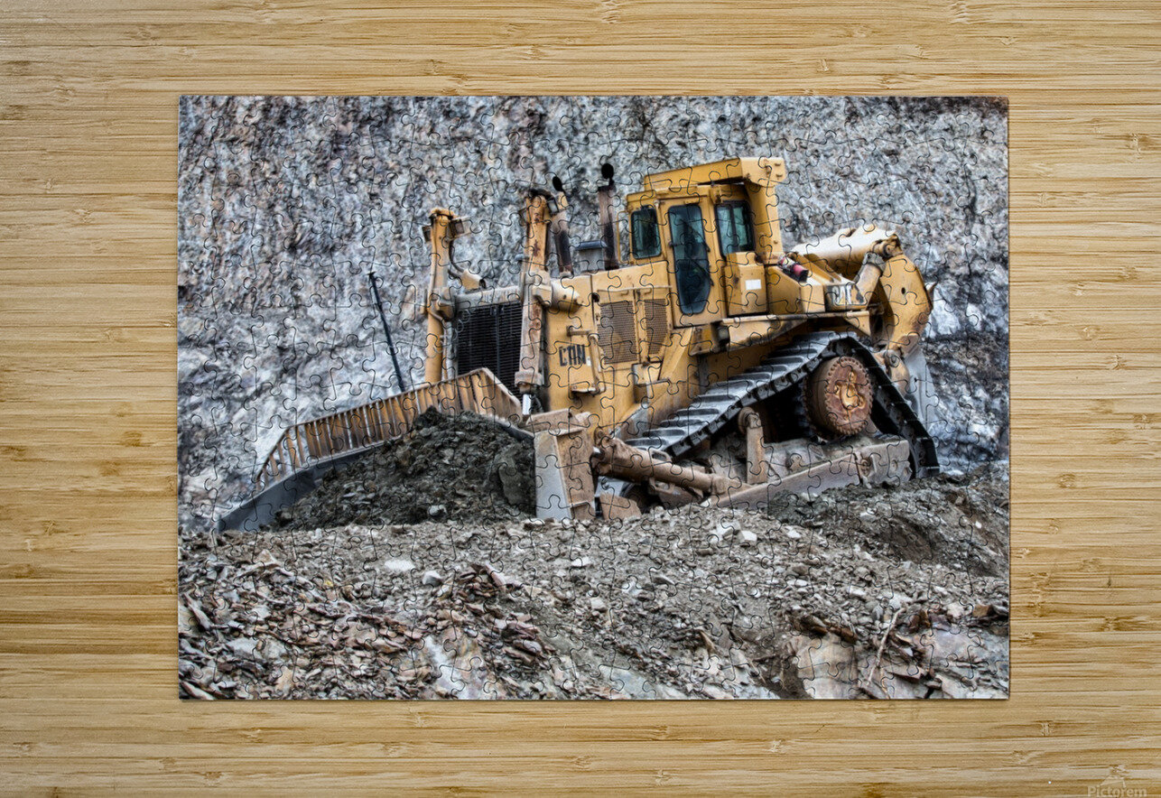 Earth Mover  HD Metal print with Floating Frame on Back