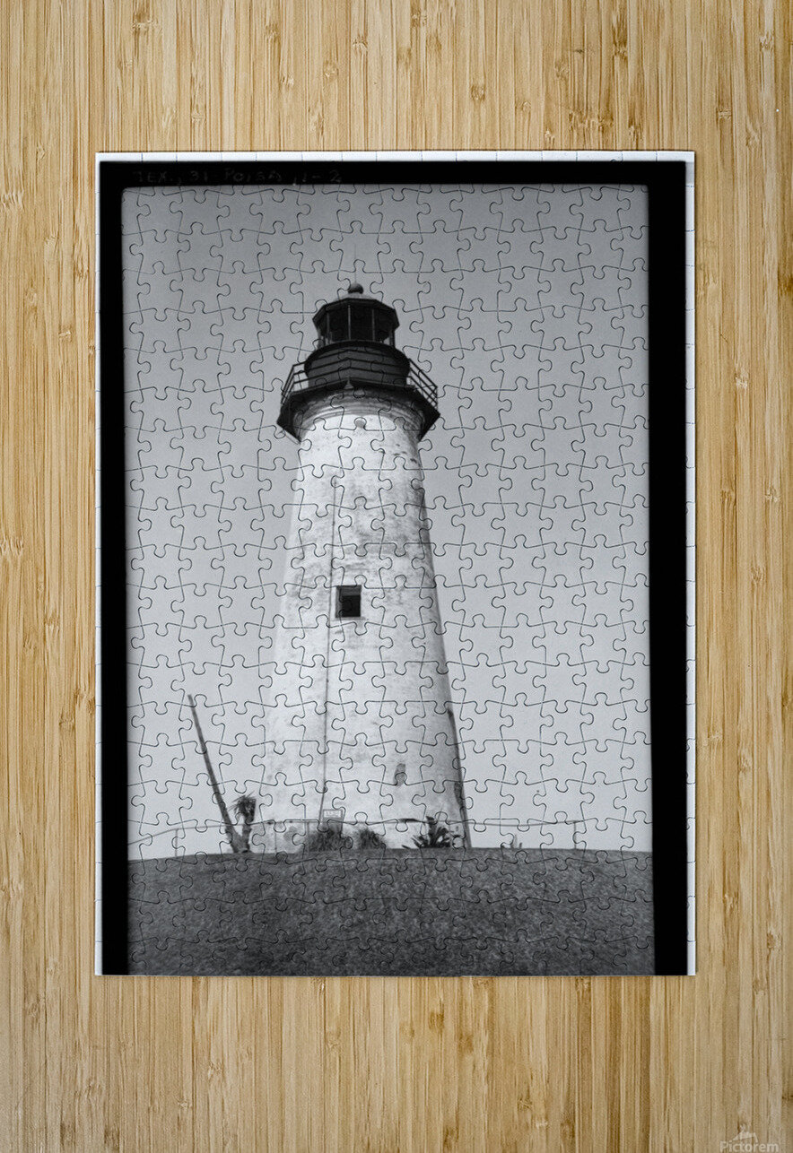 Point-Isabel-Light-Station-Texas  HD Metal print with Floating Frame on Back