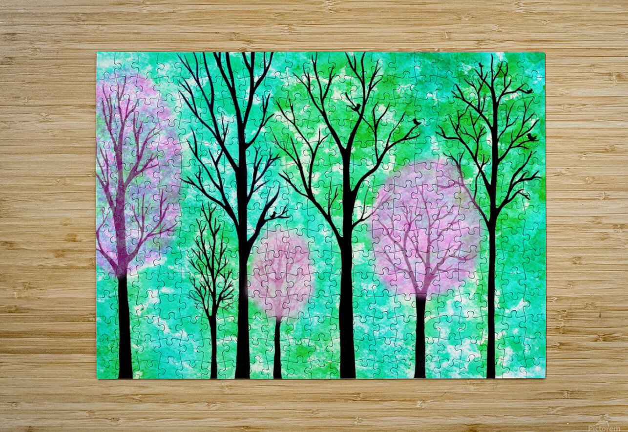 Spring Forest  HD Metal print with Floating Frame on Back