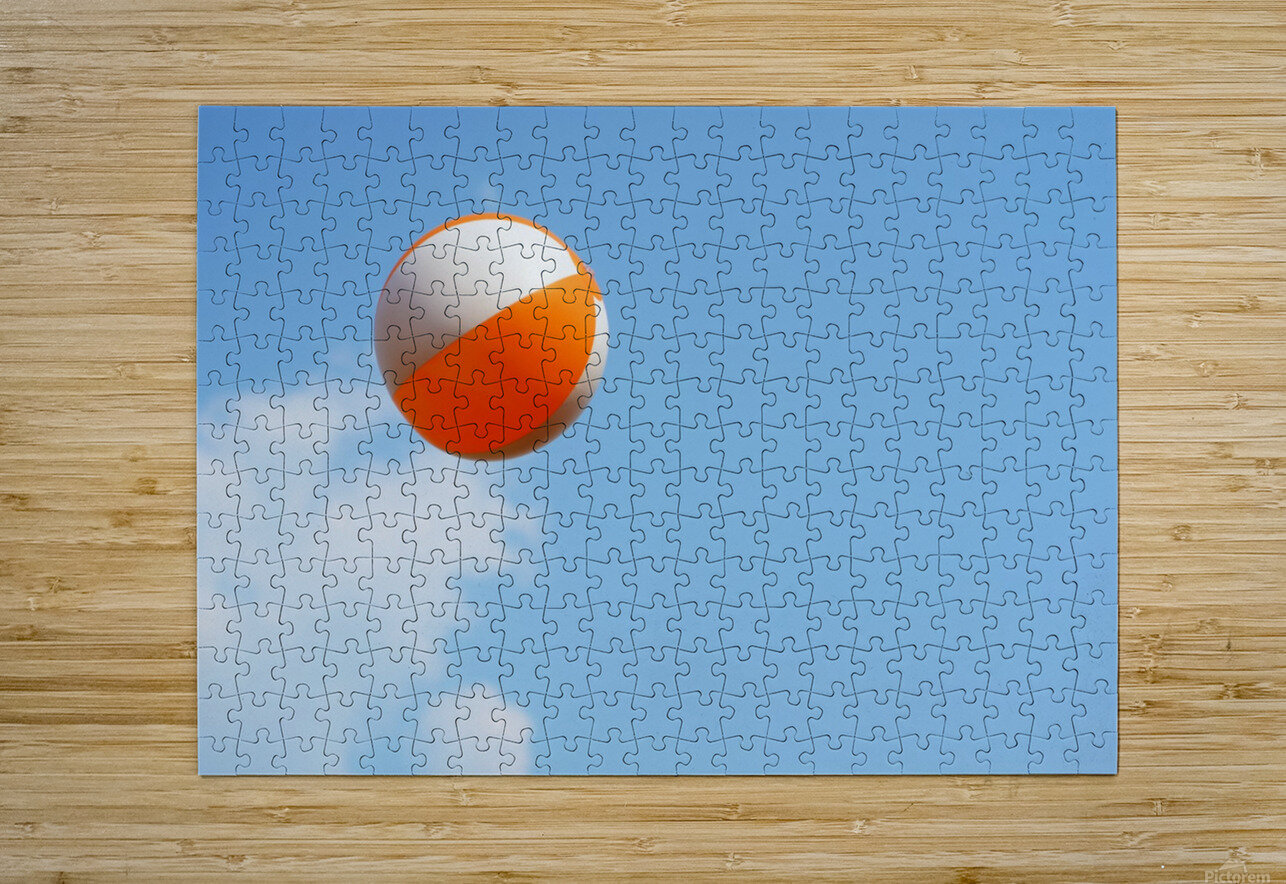 Beach ball on top of cloud  HD Metal print with Floating Frame on Back