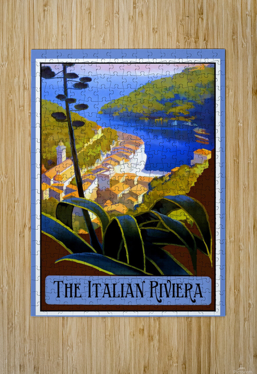 The Italian Riviera  HD Metal print with Floating Frame on Back