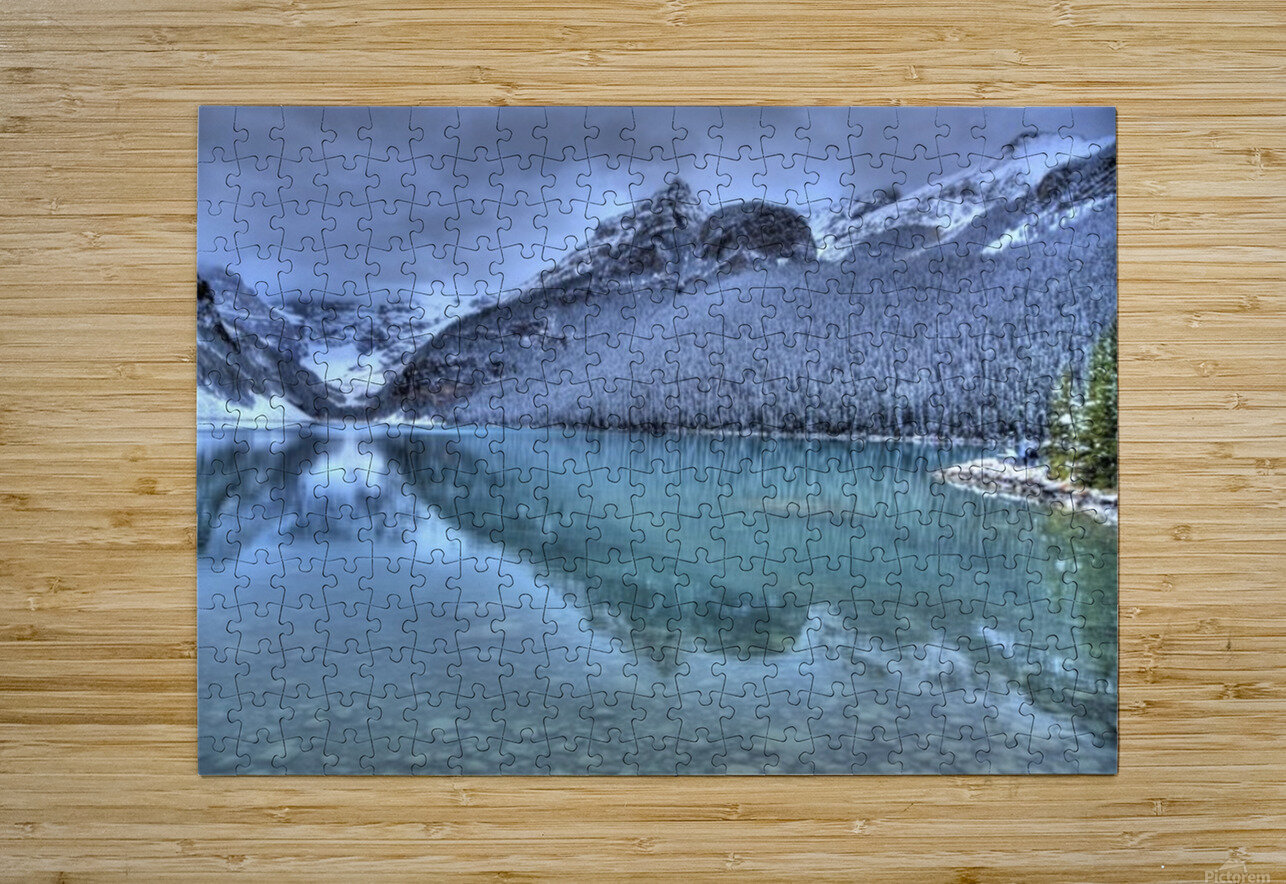 Lake Louise Winter  HD Metal print with Floating Frame on Back