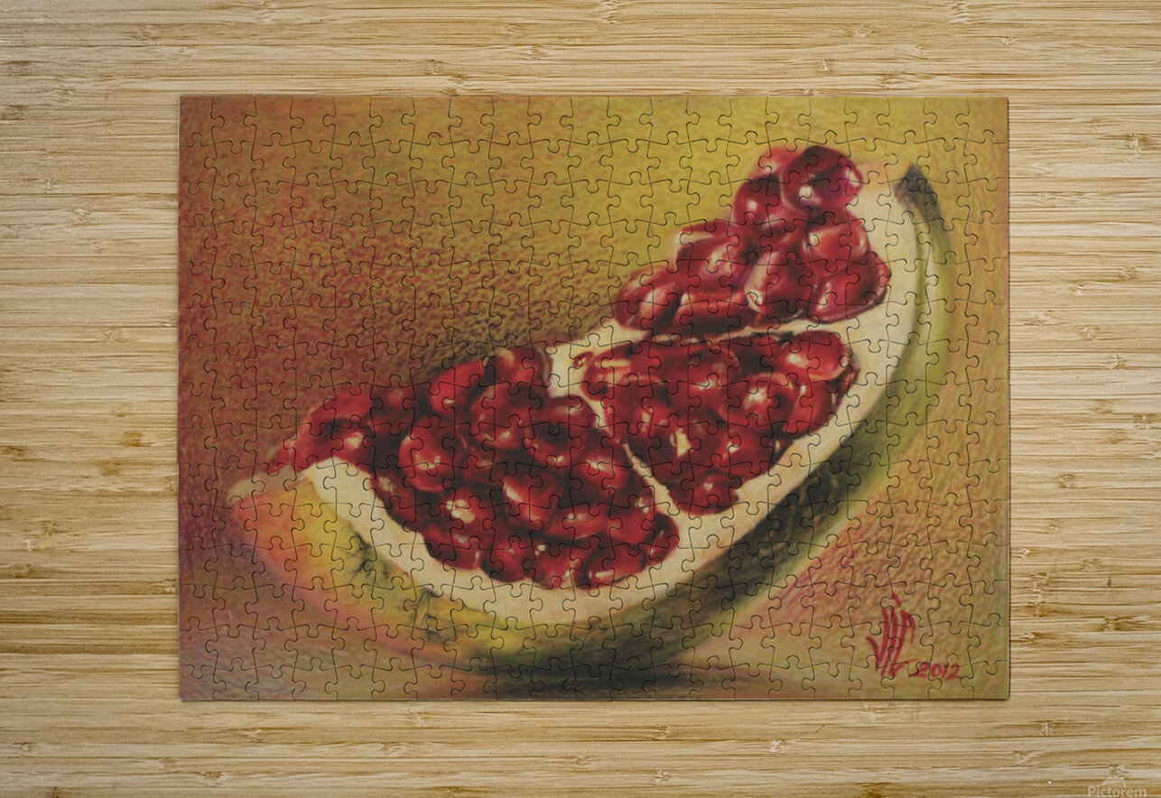 pomegranate by Vali Irina Ciobanu  HD Metal print with Floating Frame on Back