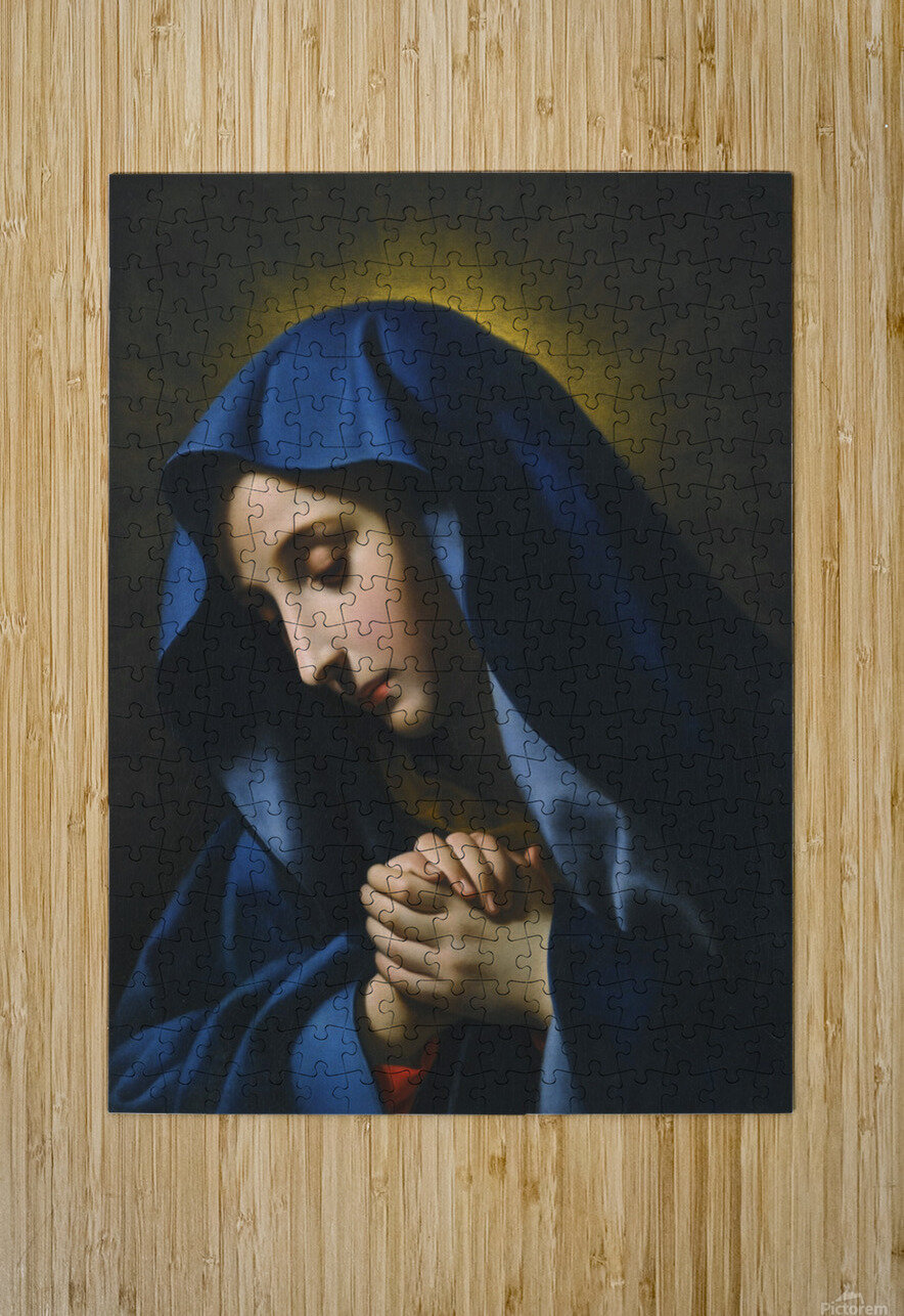The Madonna at Prayer  HD Metal print with Floating Frame on Back