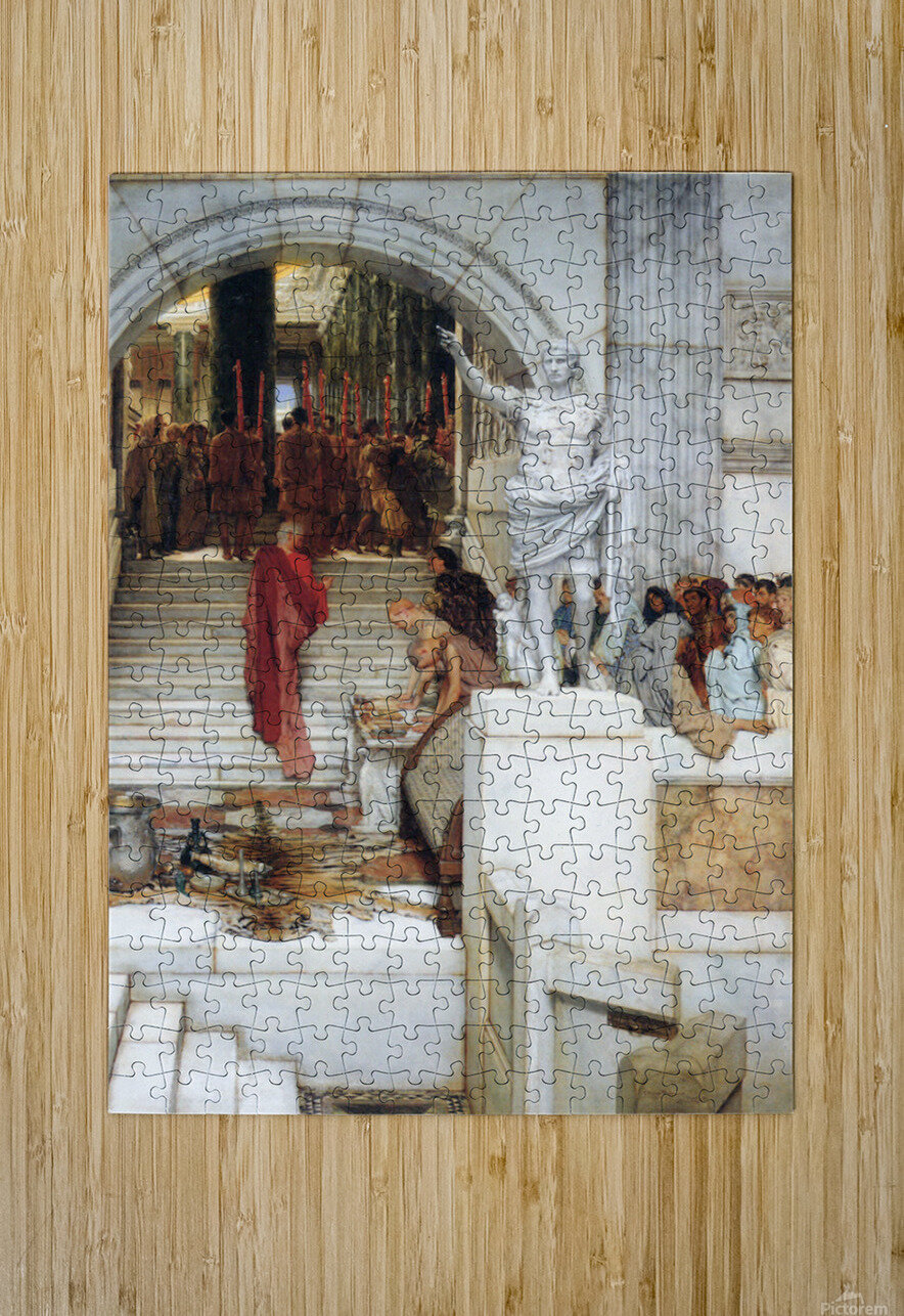 After the Audience by Alma-Tadema  HD Metal print with Floating Frame on Back