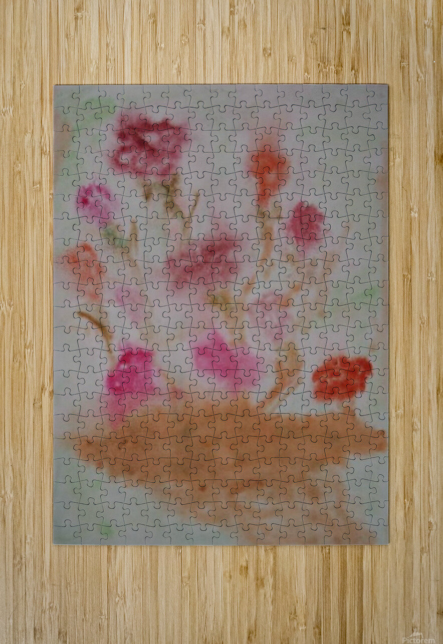 Carnations  HD Metal print with Floating Frame on Back