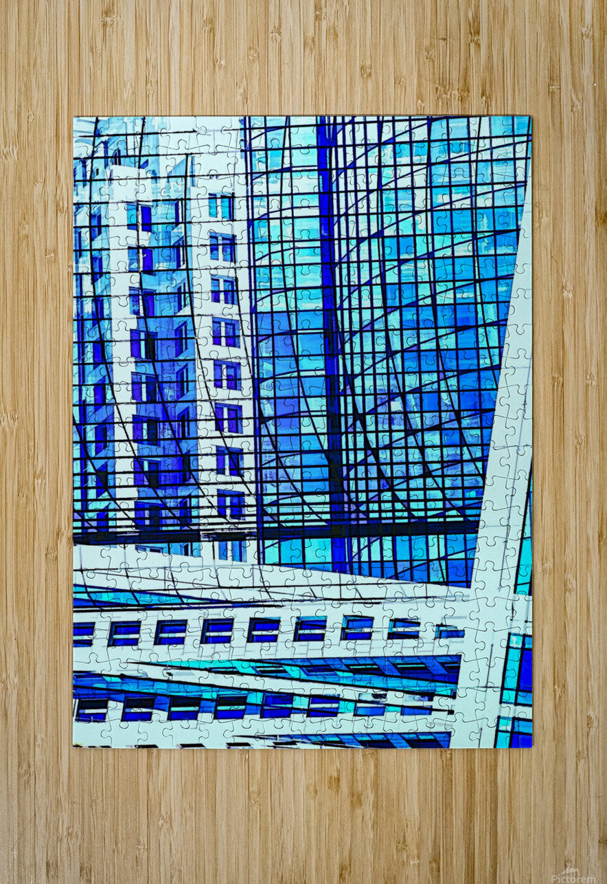 Glass and Concrete Towers_130515_14_183 HXSCYV  HD Metal print with Floating Frame on Back