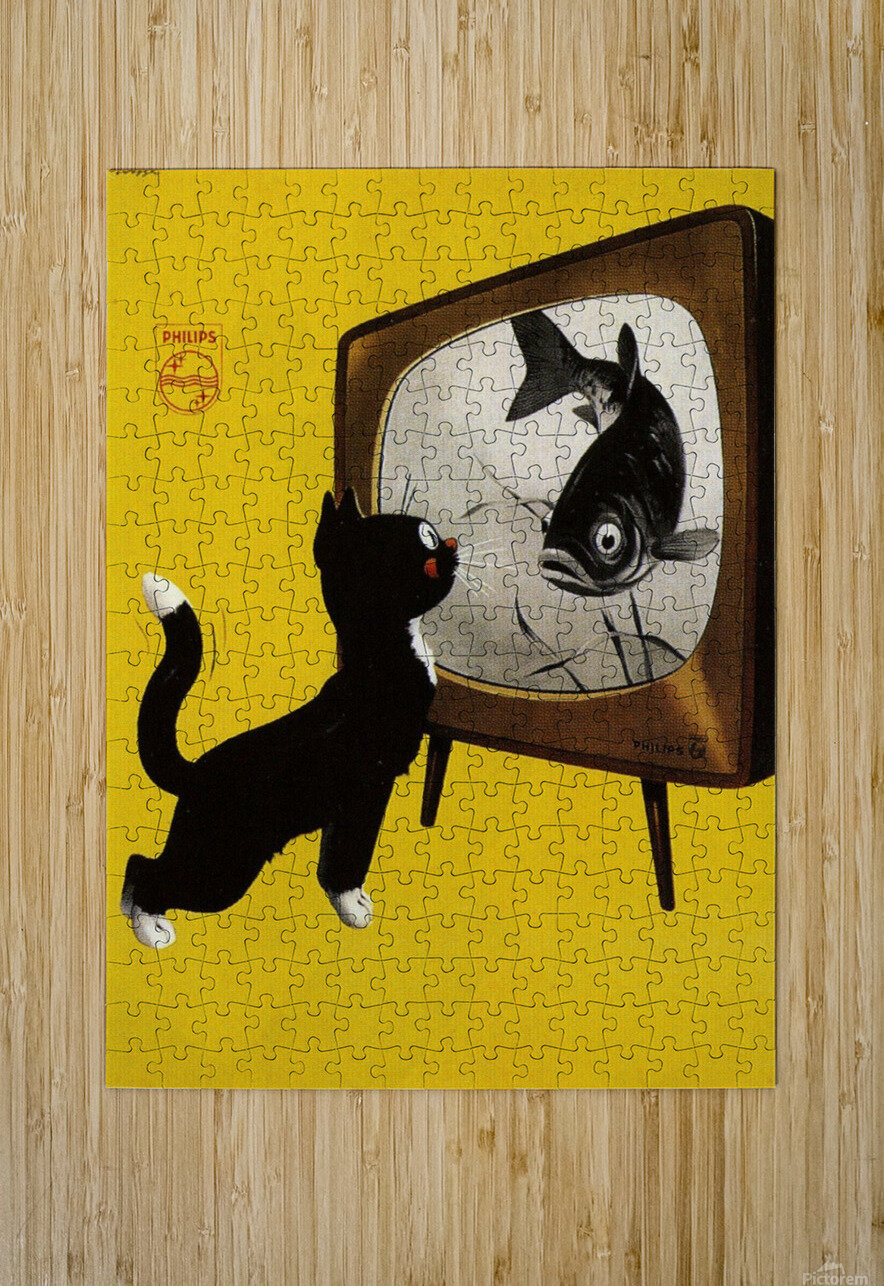 Dutch poster for Philips Tv, 1951  HD Metal print with Floating Frame on Back