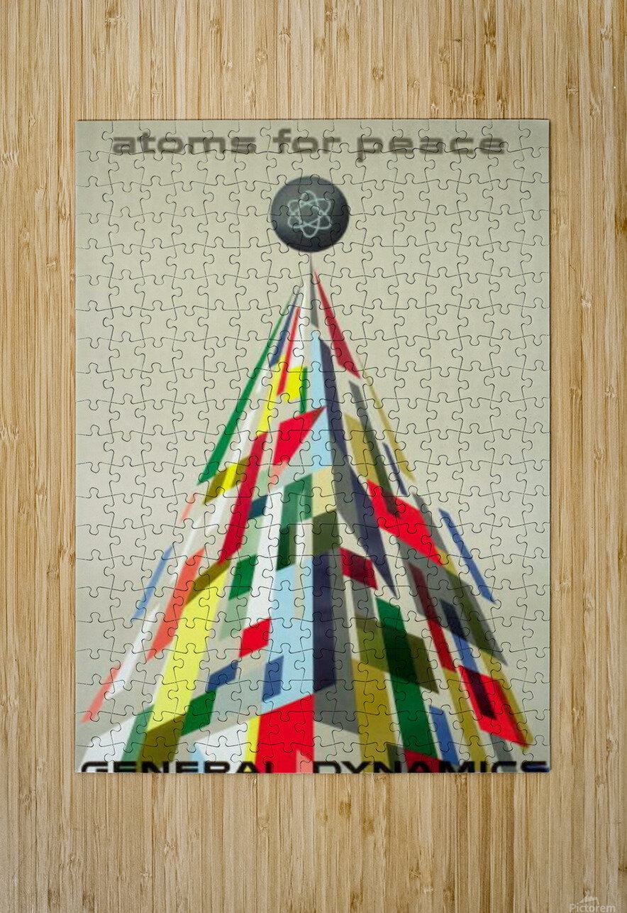 Atoms for Peace poster  HD Metal print with Floating Frame on Back