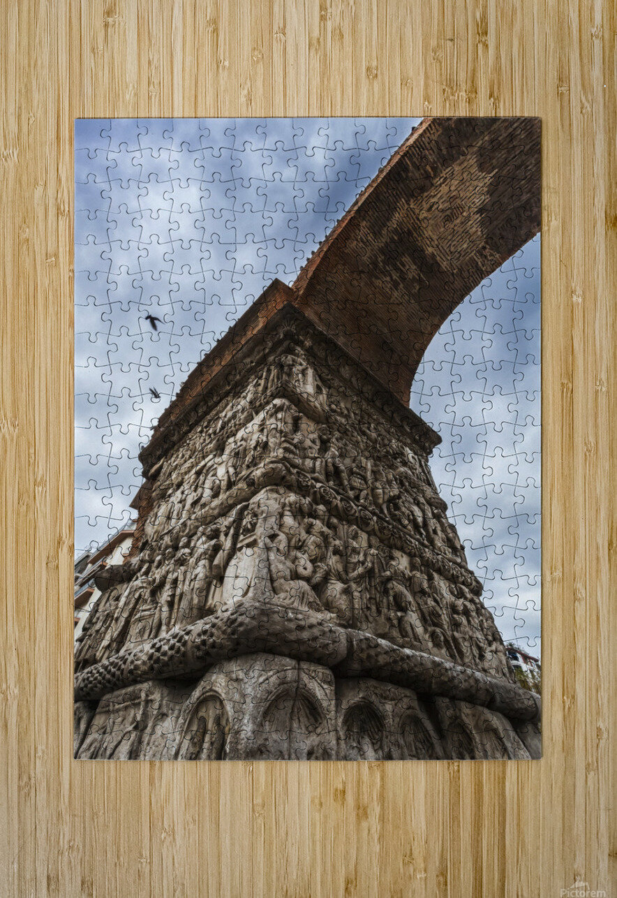 Relief on fortification wall; Thessaloniki, Greece  HD Metal print with Floating Frame on Back