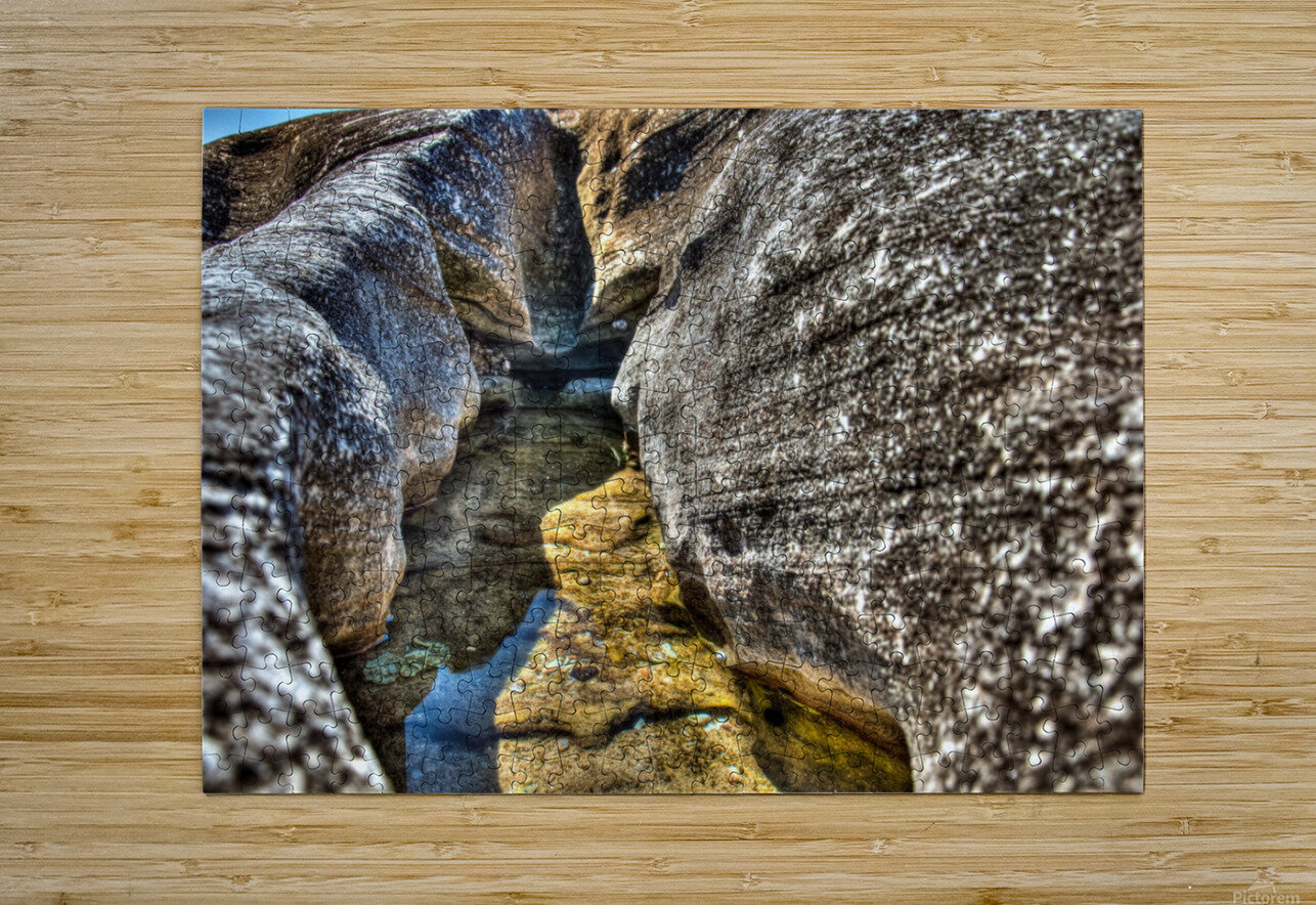 Gods Own Watering Hole  HD Metal print with Floating Frame on Back