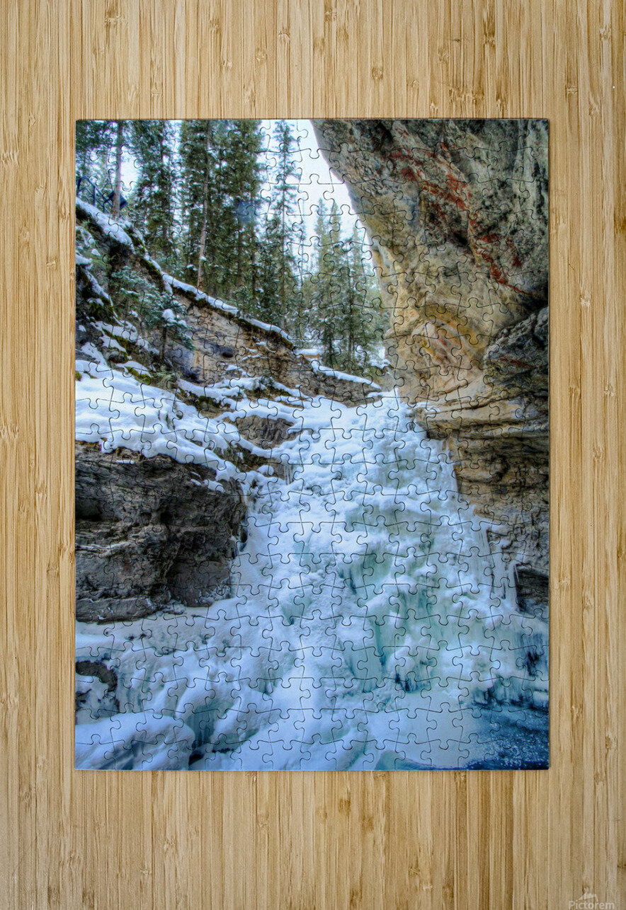 Frozen Moments  HD Metal print with Floating Frame on Back