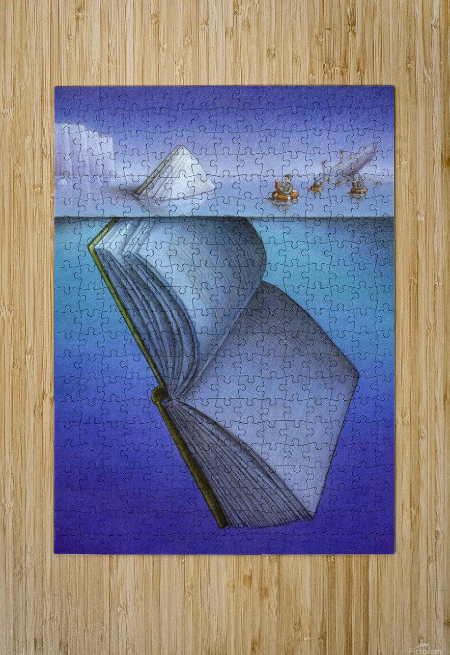 iceberg  HD Metal print with Floating Frame on Back