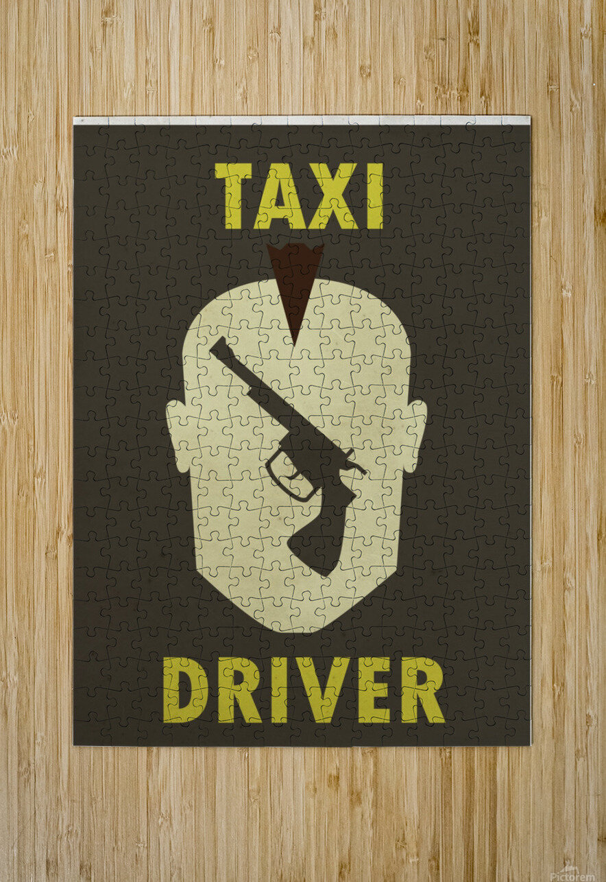 Taxi Driver Vintage Movie Poster  HD Metal print with Floating Frame on Back