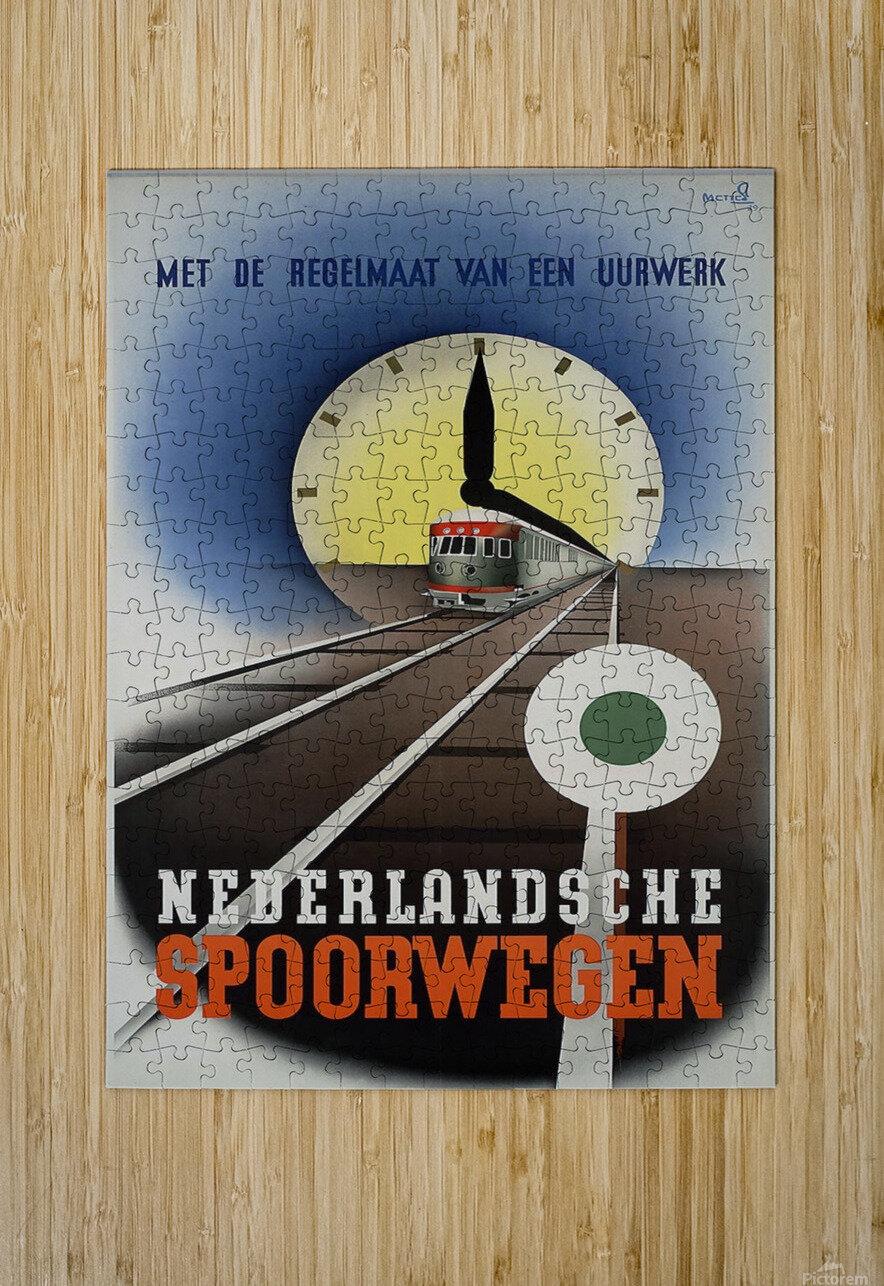 Nederlandse Spoorwegen Poster  HD Metal print with Floating Frame on Back