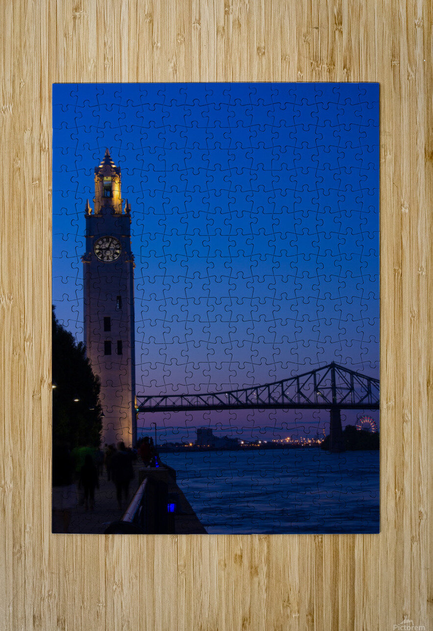 All Along the Clock Tower  HD Metal print with Floating Frame on Back