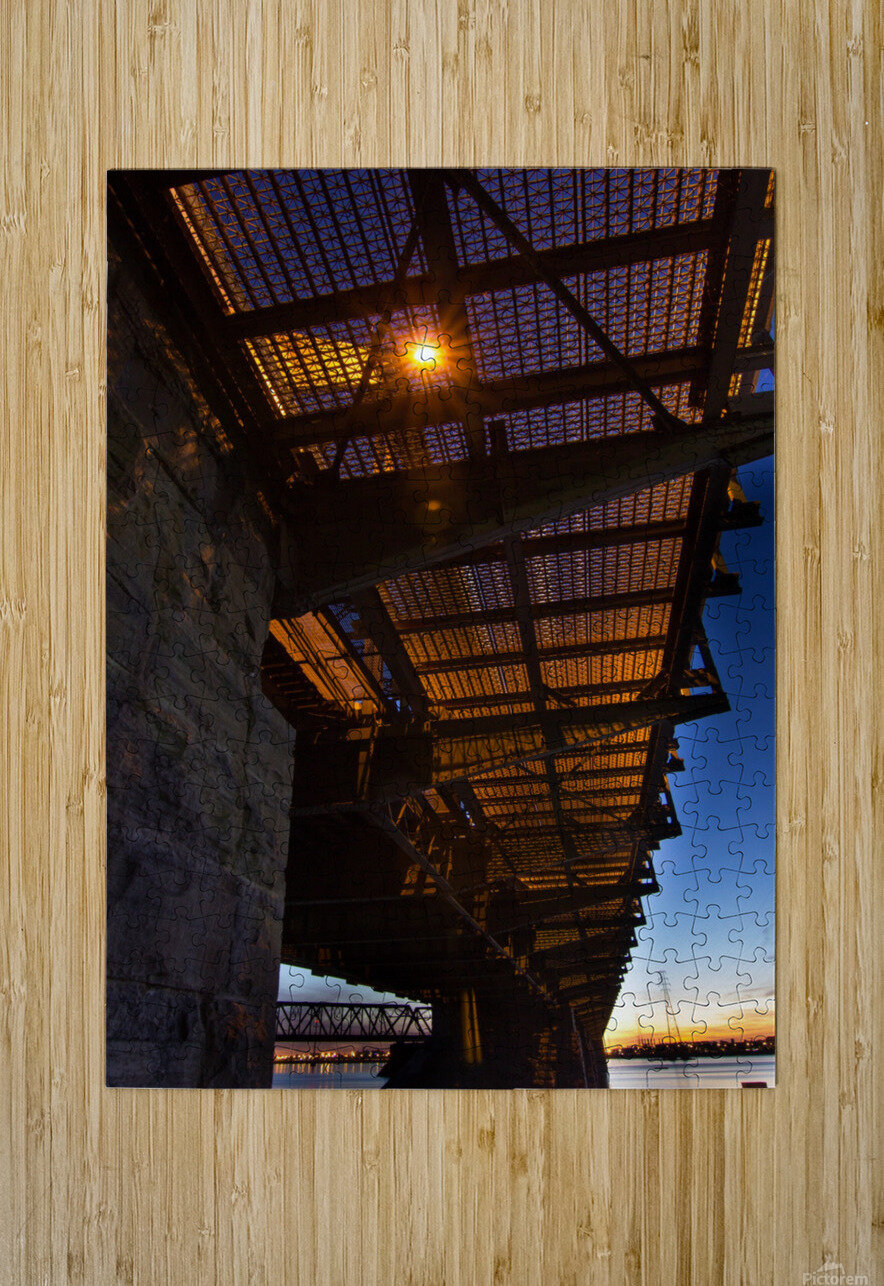 Under Victoria Bridge  HD Metal print with Floating Frame on Back