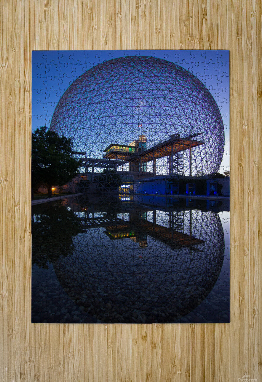 Reflections on Buckminster  HD Metal print with Floating Frame on Back