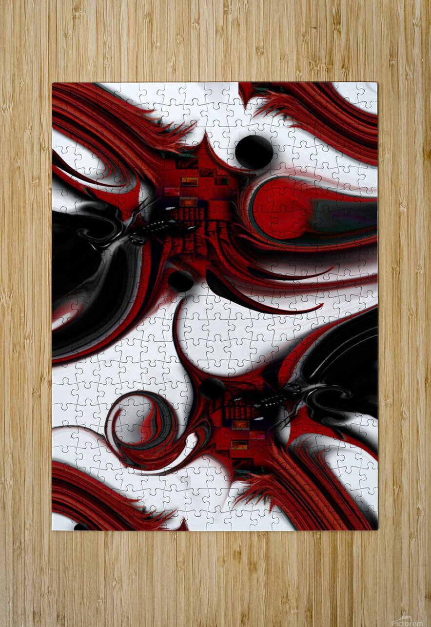 Expression and Creation  HD Metal print with Floating Frame on Back