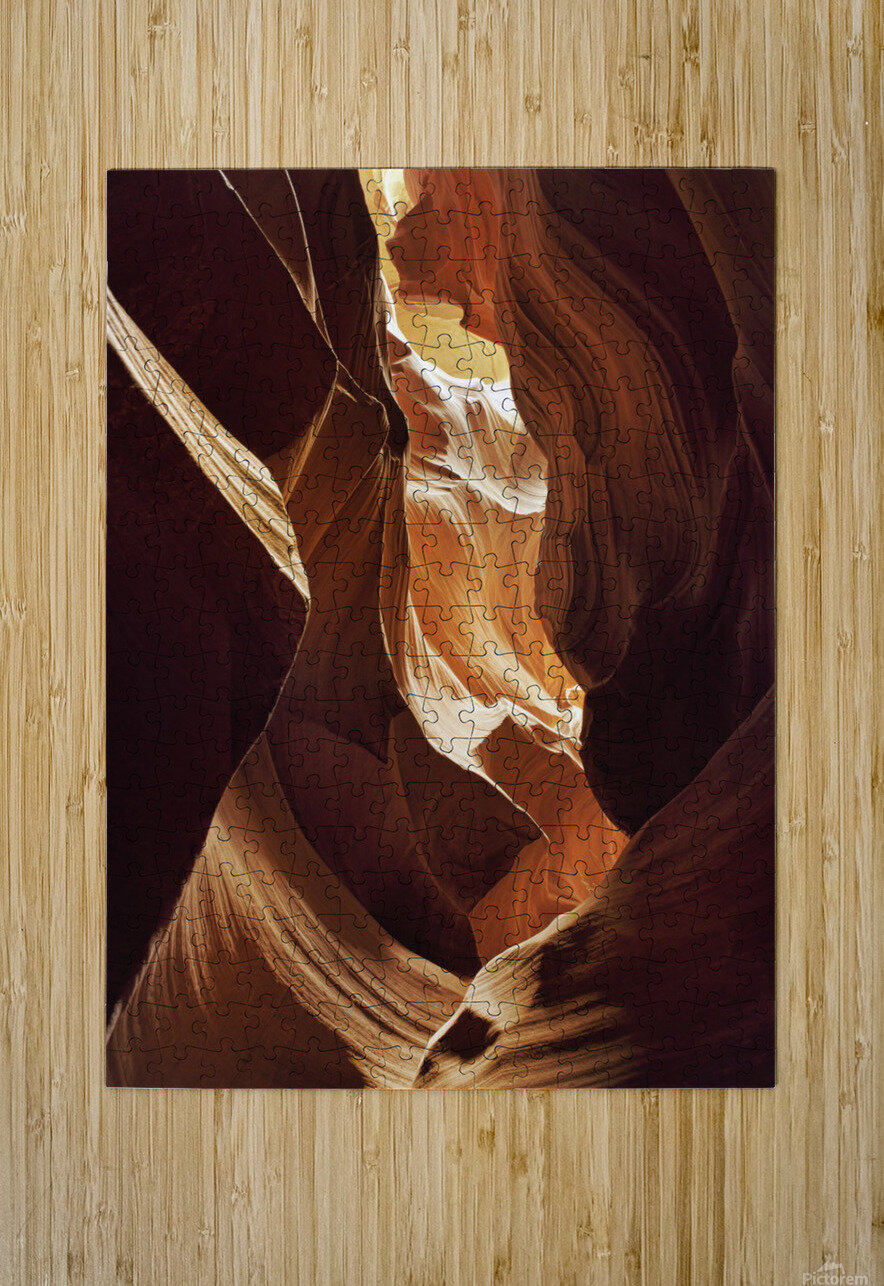 Antelope Canyon 1  HD Metal print with Floating Frame on Back