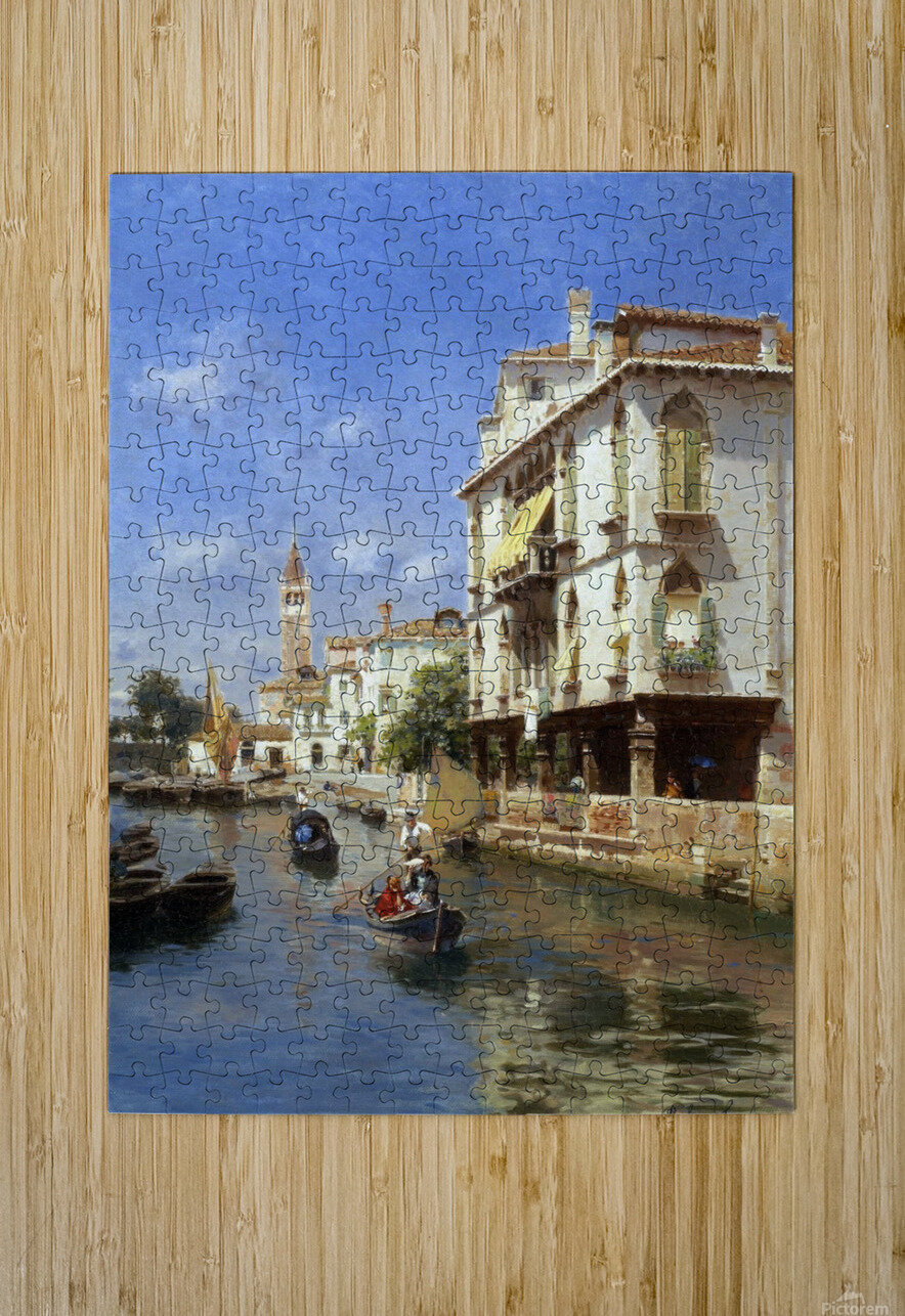 Canale della Guerra, Venice  HD Metal print with Floating Frame on Back
