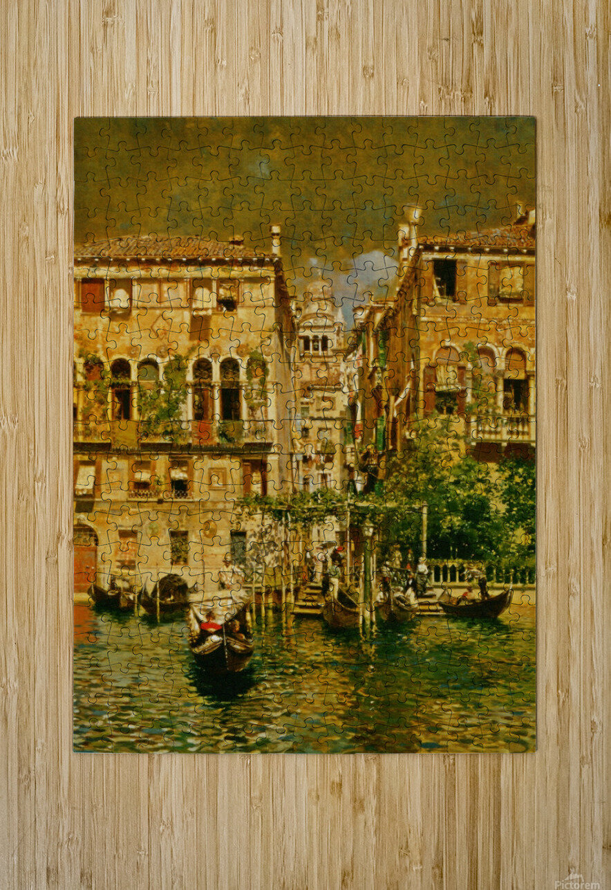 Leaving a Residence on the Grand Canal  HD Metal print with Floating Frame on Back
