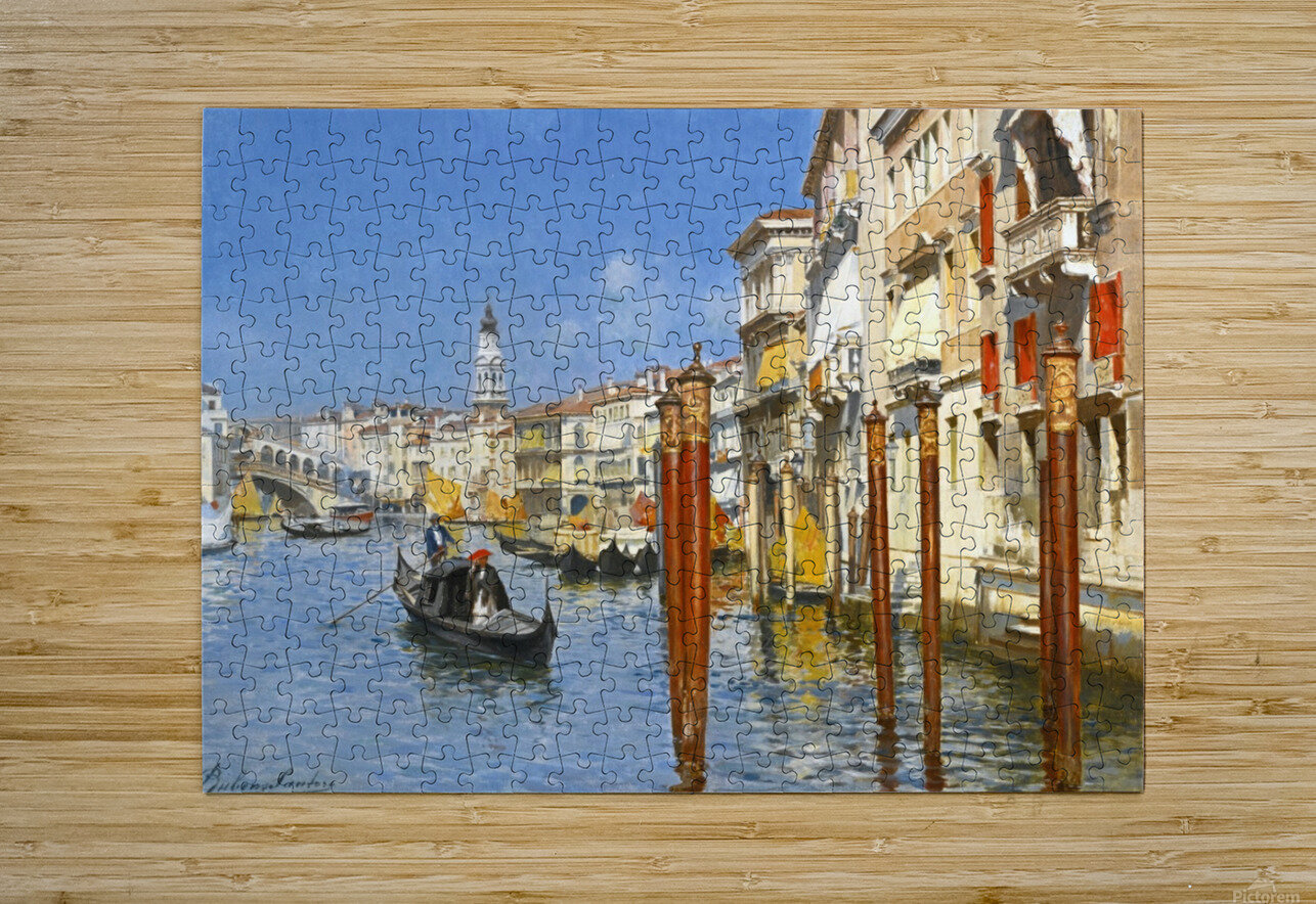 The Grand Canal in Venice  HD Metal print with Floating Frame on Back