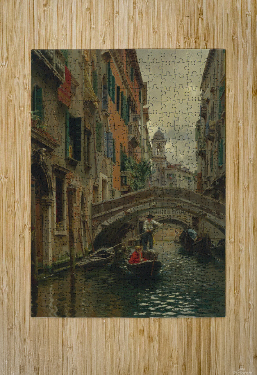 A quiet canal  HD Metal print with Floating Frame on Back
