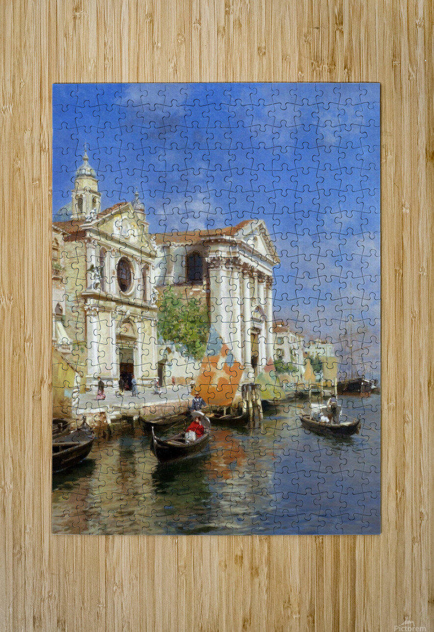 Riva degli Schiavoni  HD Metal print with Floating Frame on Back