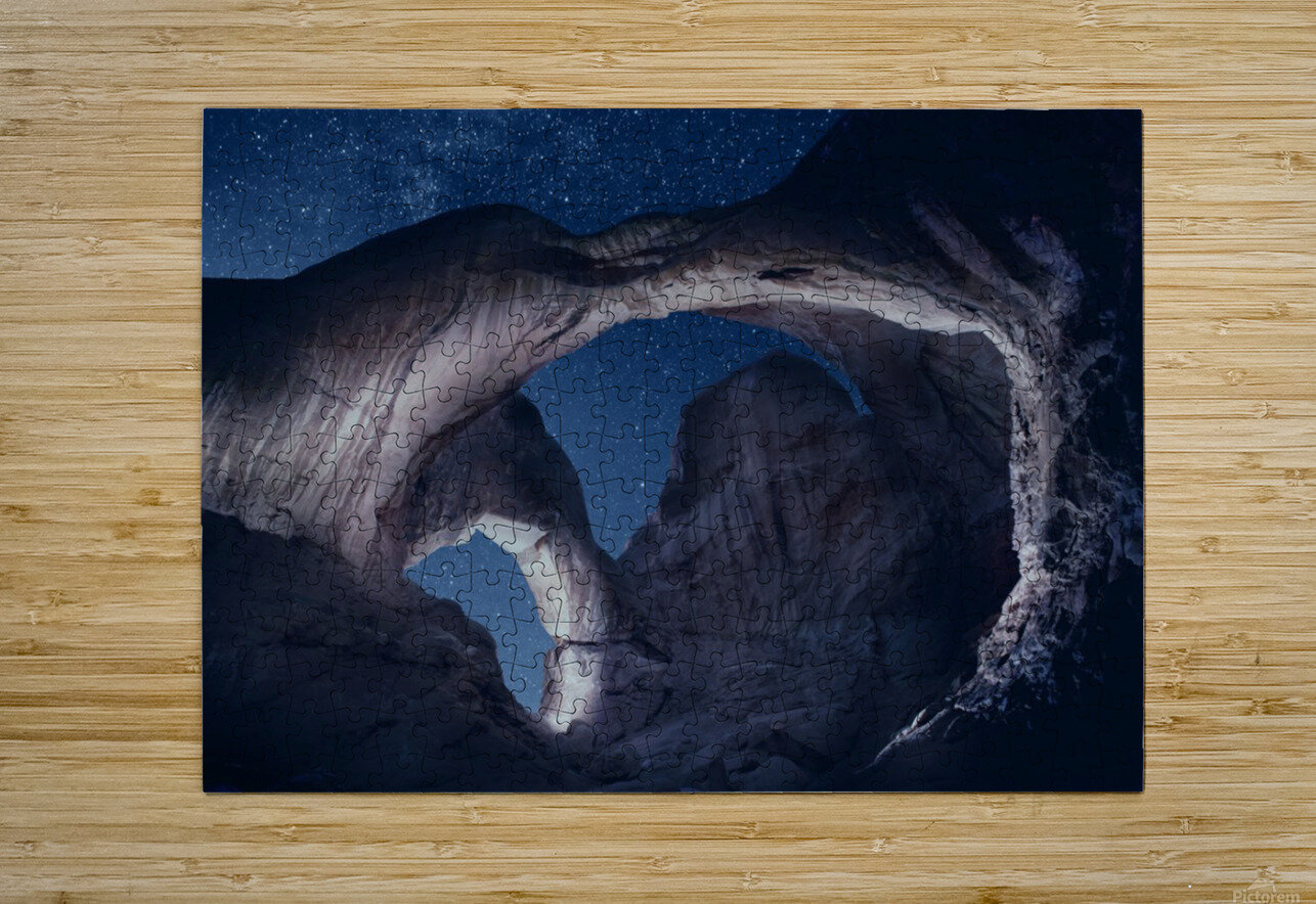 Arches National Park night 1  HD Metal print with Floating Frame on Back