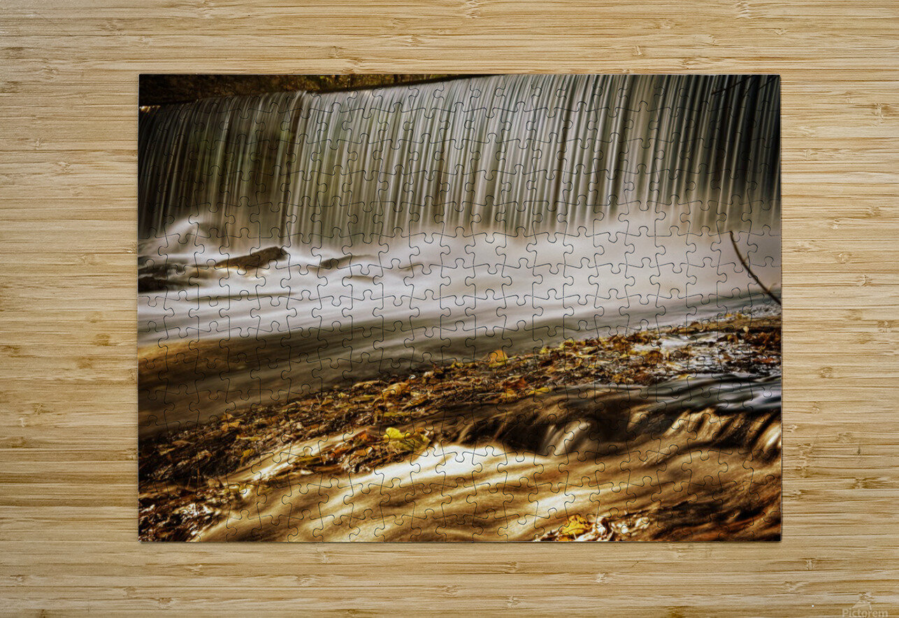 Waterfall  HD Metal print with Floating Frame on Back