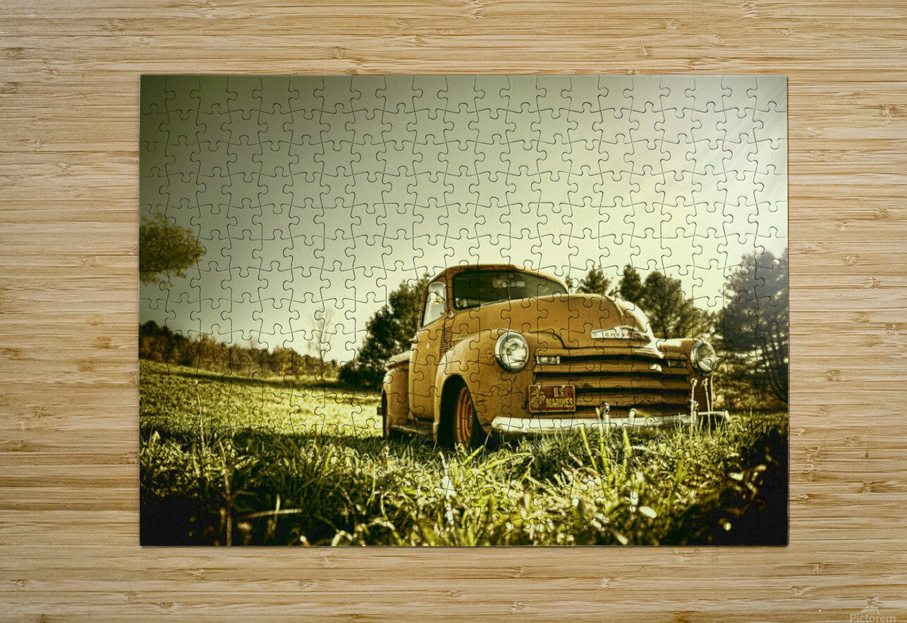 Old Car  HD Metal print with Floating Frame on Back