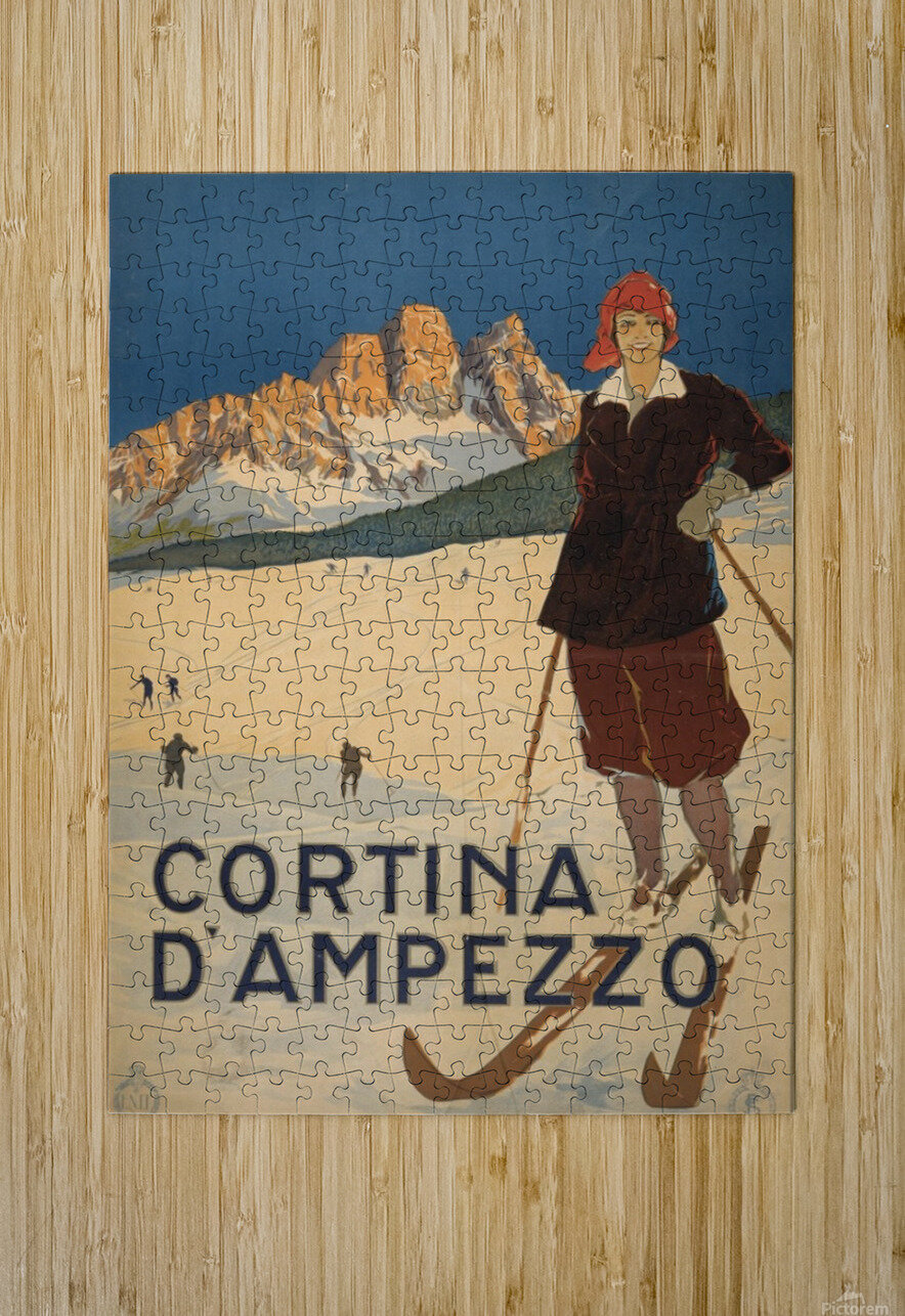 Cortina d Amprezzo  HD Metal print with Floating Frame on Back