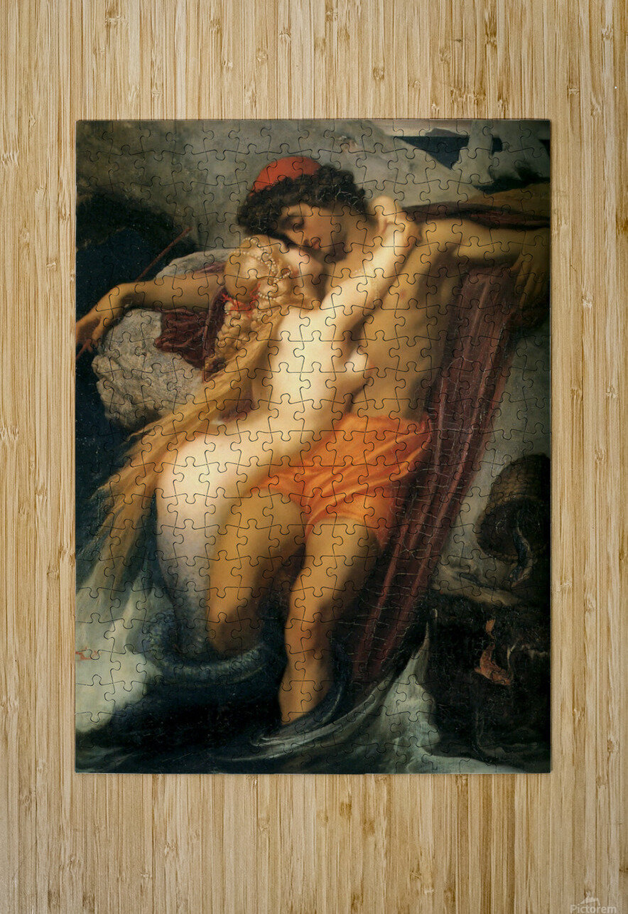 The fisherman and the syren  HD Metal print with Floating Frame on Back