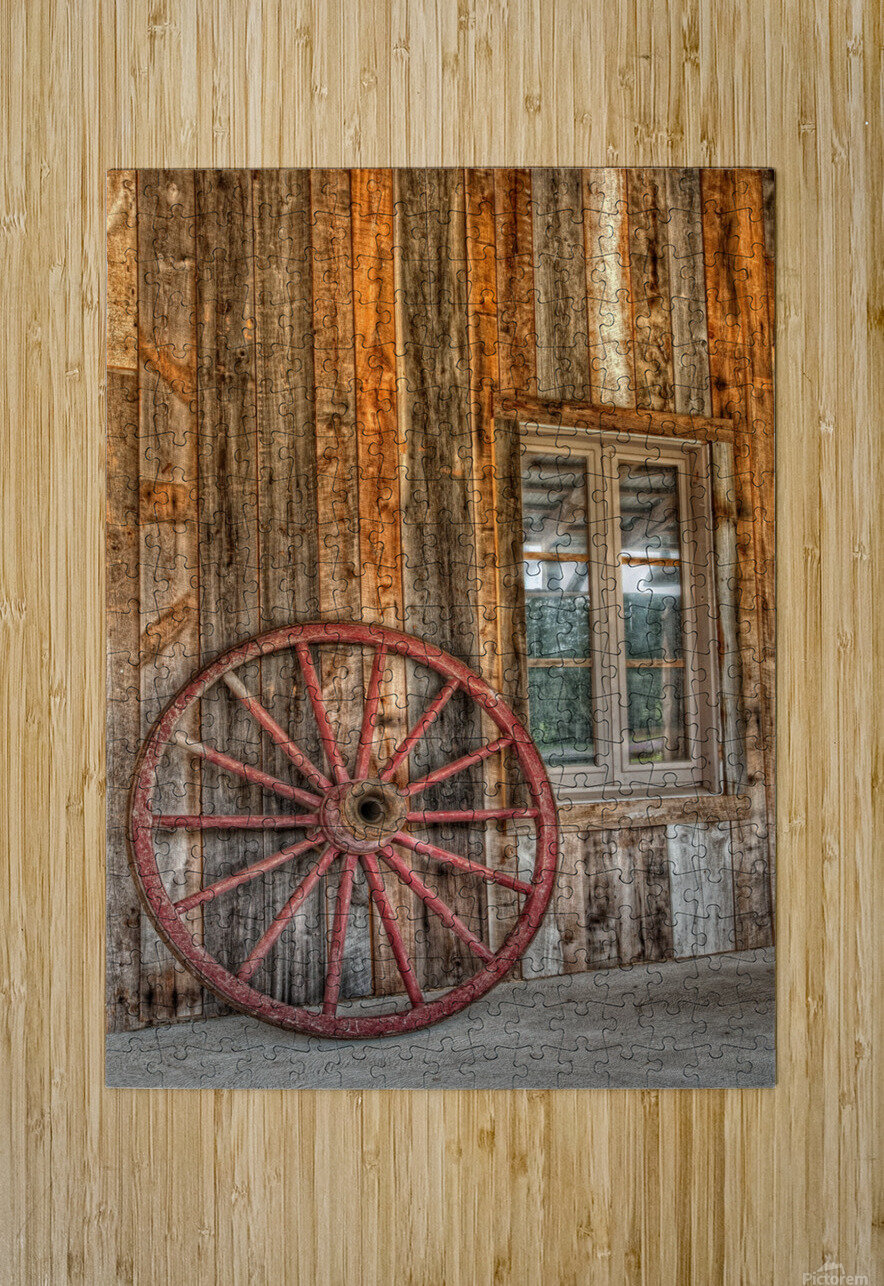 Wagon Wheel  HD Metal print with Floating Frame on Back