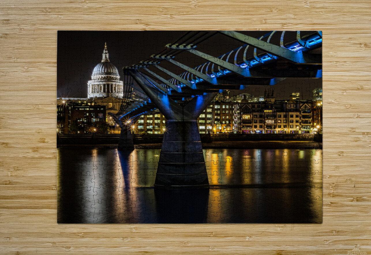 Millenium Bridge, London  HD Metal print with Floating Frame on Back