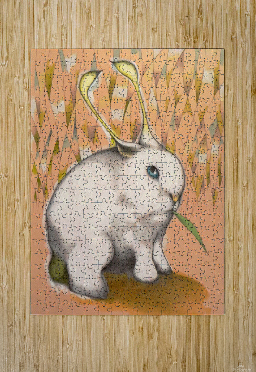 Bunny Alien  HD Metal print with Floating Frame on Back