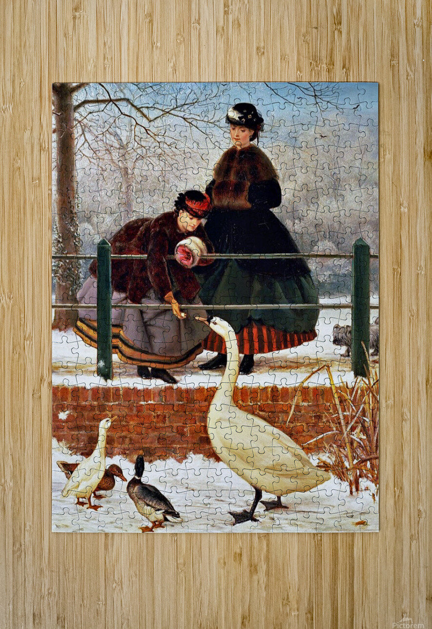Winter Walk  HD Metal print with Floating Frame on Back