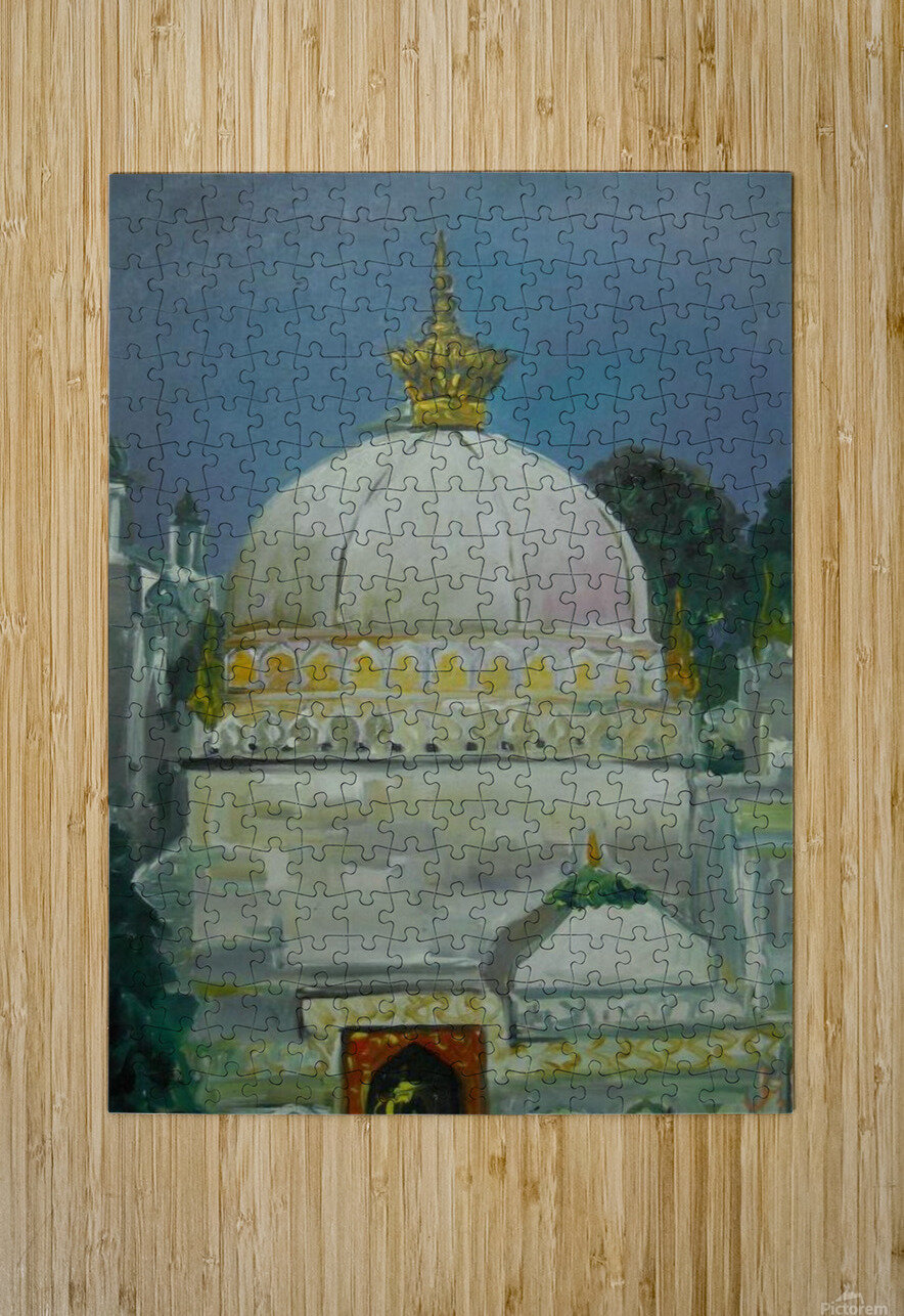 dargah   HD Metal print with Floating Frame on Back