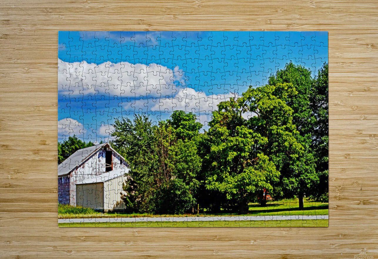 Storm Clouds Over the Barn 1  HD Metal print with Floating Frame on Back