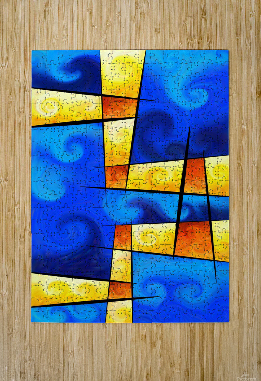 Fergussos V1 - digital abstract  HD Metal print with Floating Frame on Back