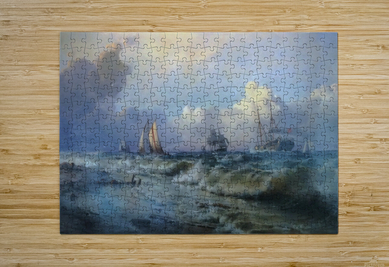 Boats near Oresund  HD Metal print with Floating Frame on Back