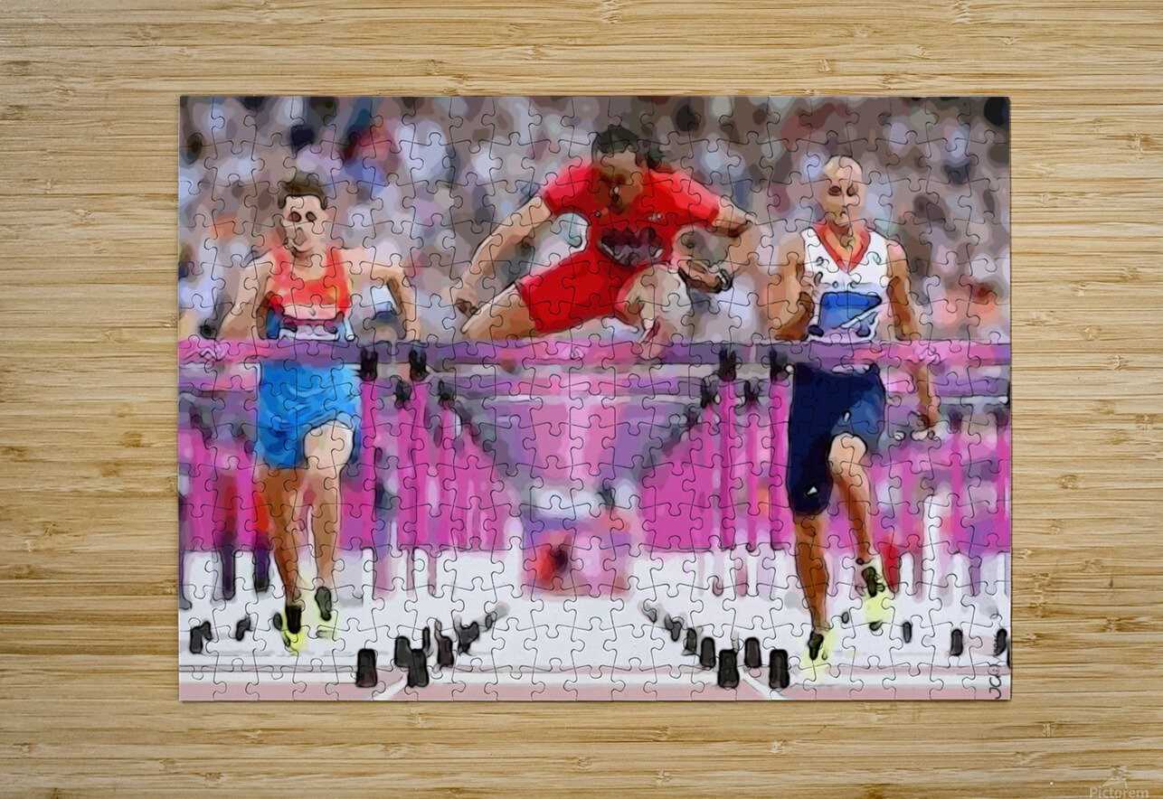 Athletics_58  HD Metal print with Floating Frame on Back