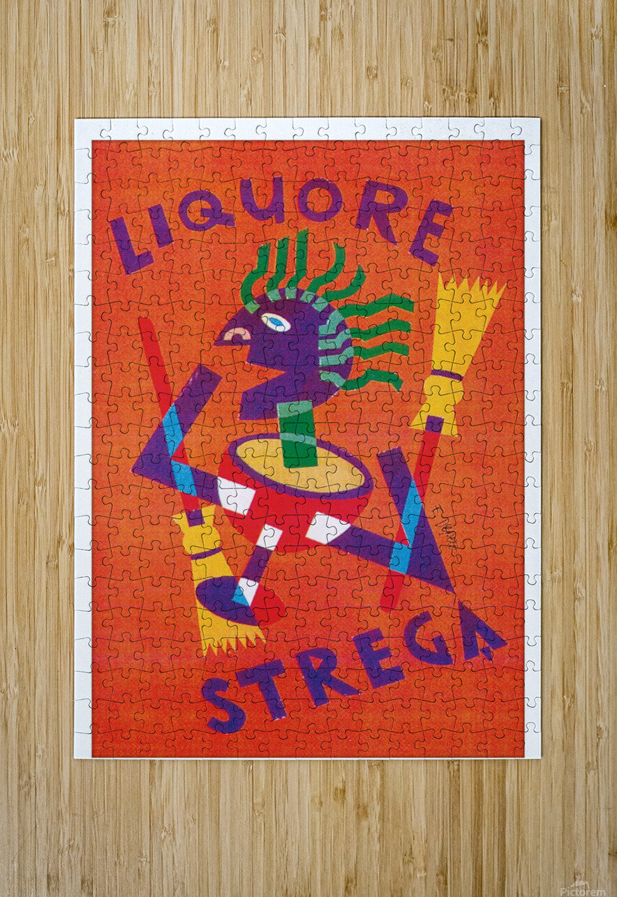 Strega Alberti Benevento poster  HD Metal print with Floating Frame on Back