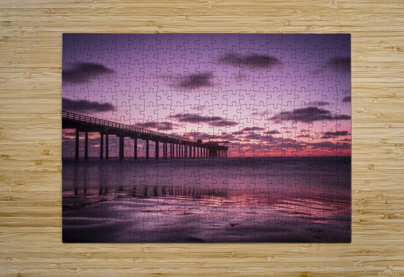 LaJolla Bridge  HD Metal print with Floating Frame on Back