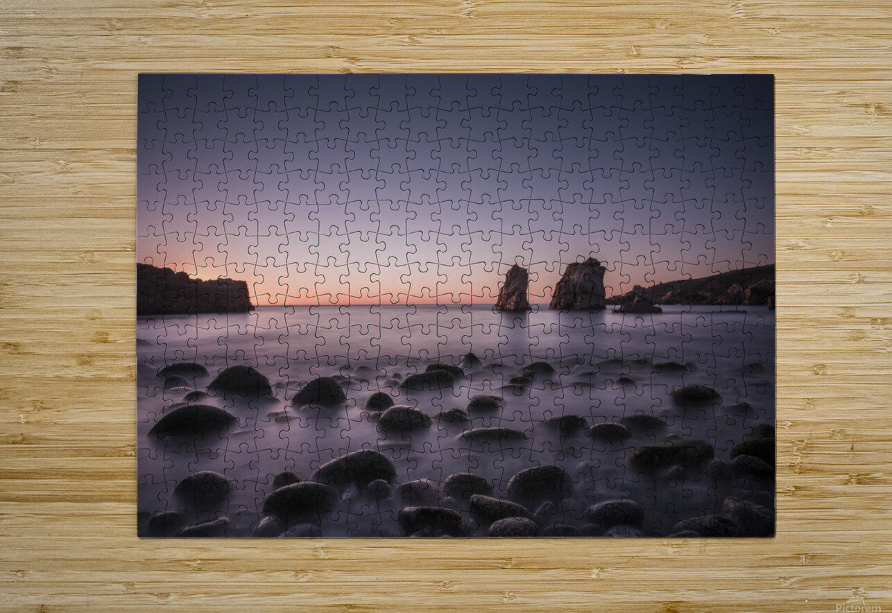 Carmel Sunset  HD Metal print with Floating Frame on Back