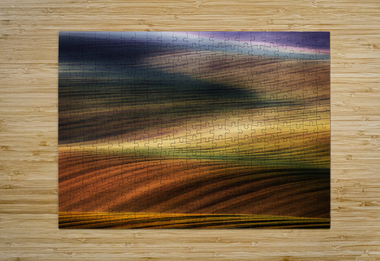 autumn fields  HD Metal print with Floating Frame on Back