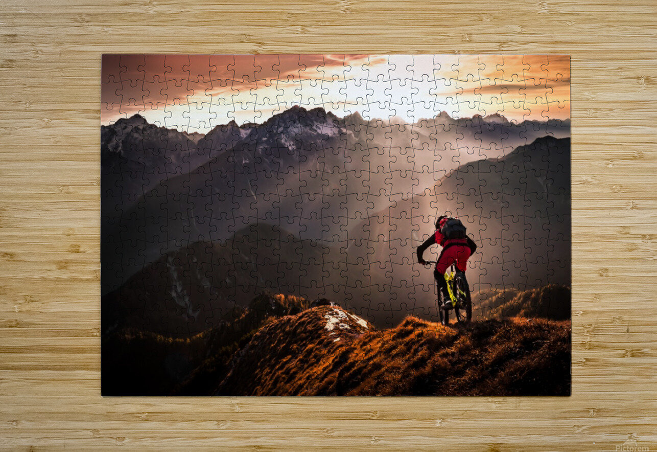Just ride ...  HD Metal print with Floating Frame on Back