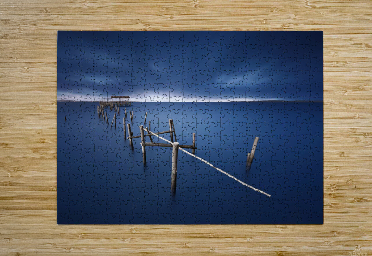 Carrasqueira azul  HD Metal print with Floating Frame on Back
